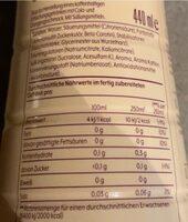 Schwip Schwap Zero - Nutrition facts - de