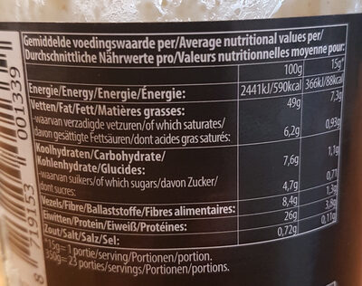 Pindakaas Crunchy - Informations nutritionnelles - fr