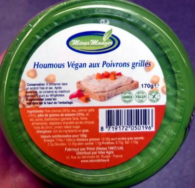calorie Houmous Végan aux Poivrons grillés