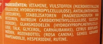 Vitamine C-1000 - Ingrediënten - nl