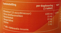 Vitamine C-1000 - Informations nutritionnelles - nl