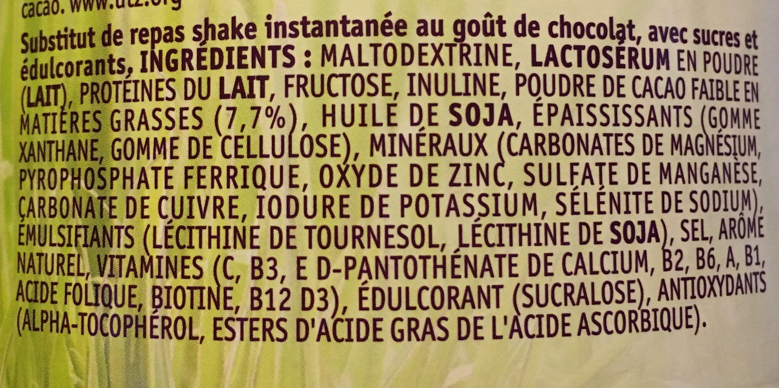 Kruidvat Poids Idéal Repas Shake Chocolat - Ingrédients