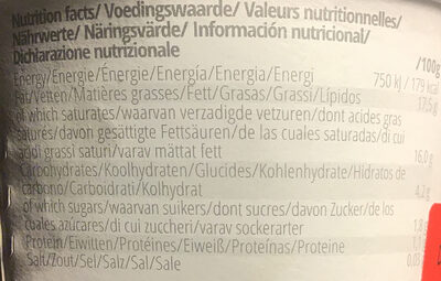 Coco Start - Natural - Nutrition facts - en