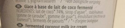 Glace a base de Coco Fermentée 500GR Bio - Abbot Kinney's - Ingredients - fr