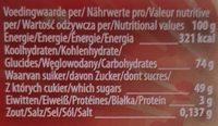 Sour cola bottles - Nutrition facts - fr