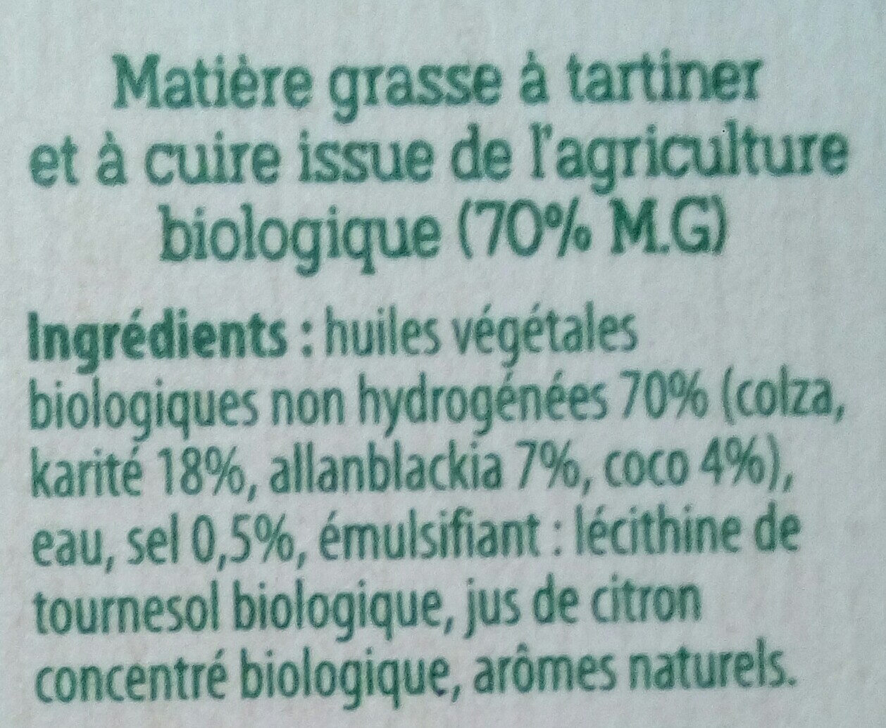 Margarine - Ingredients - fr