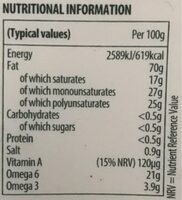 Dairy free Flora - Valori nutrizionali - en