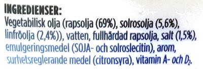 Milda Culinesse Flytande - Ingredienti - sv