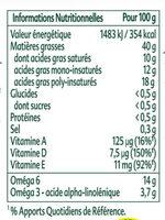ProActiv Margarine Tartine Sans Huile de Palme 450g - Voedingswaarden - fr