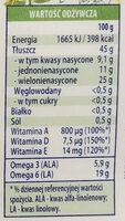 Źródło naturalnych omega 3 & 6 original - Wartości odżywcze - pl