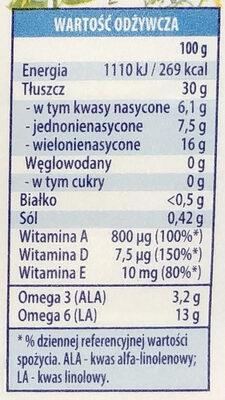 Omega 3 & 6 light - Wartości odżywcze - pl