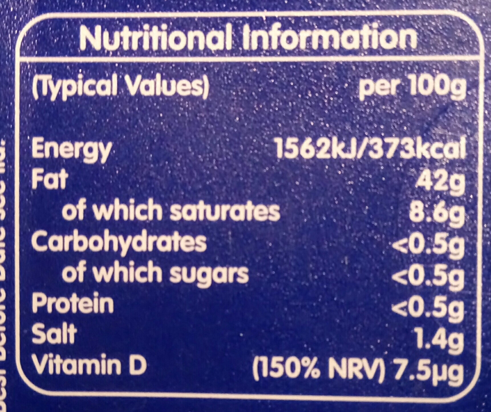 I can't believe it's so good... - Nutrition facts