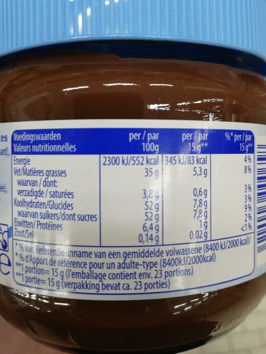 Becel - Pâte à tartiner aux noisettes - Voedingswaarden - fr