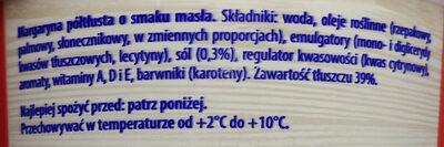 Margaryna półtłusta o smaku masła. - Ingredients - pl