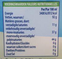 Becel huile pour friture - Voedingswaarden - fr
