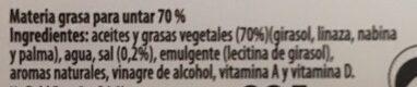 Délice margarina vegetal - Ingrédients - es