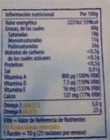 Margarina Tulipán con sal - Voedigswaarden