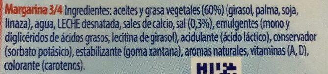 Margarina - Ingrédients - es