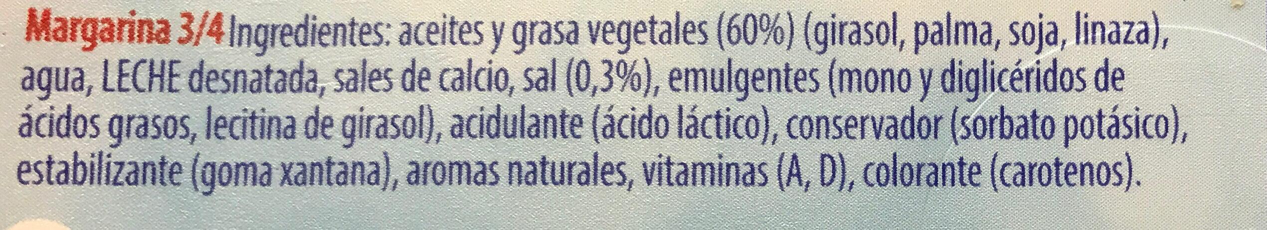 Tulipán - Ingredients
