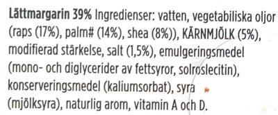 Lätta - Original - Ingrédients - sv