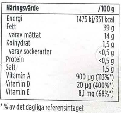 Lätta - Original - Informations nutritionnelles - sv