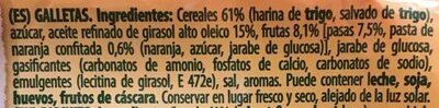 Galletas fruta y fibra - Ingrediënten - es
