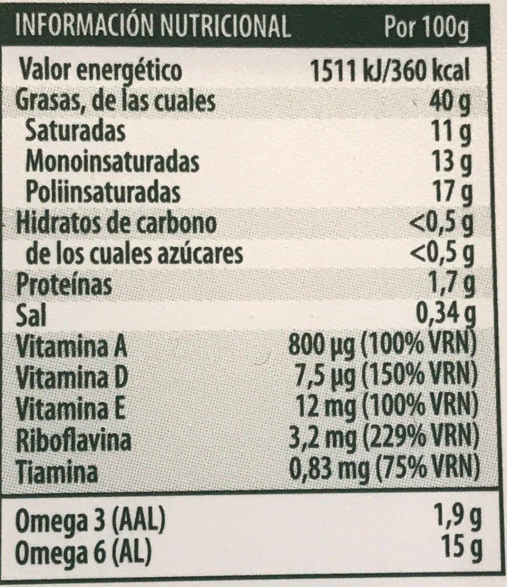 Margarina 100% vegetal con aceite de oliva - Valori nutrizionali - es