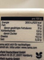 Rama mit butter - Nutrition facts - fr