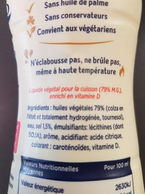 Planta Fin Cusine Facile - Ingrédients