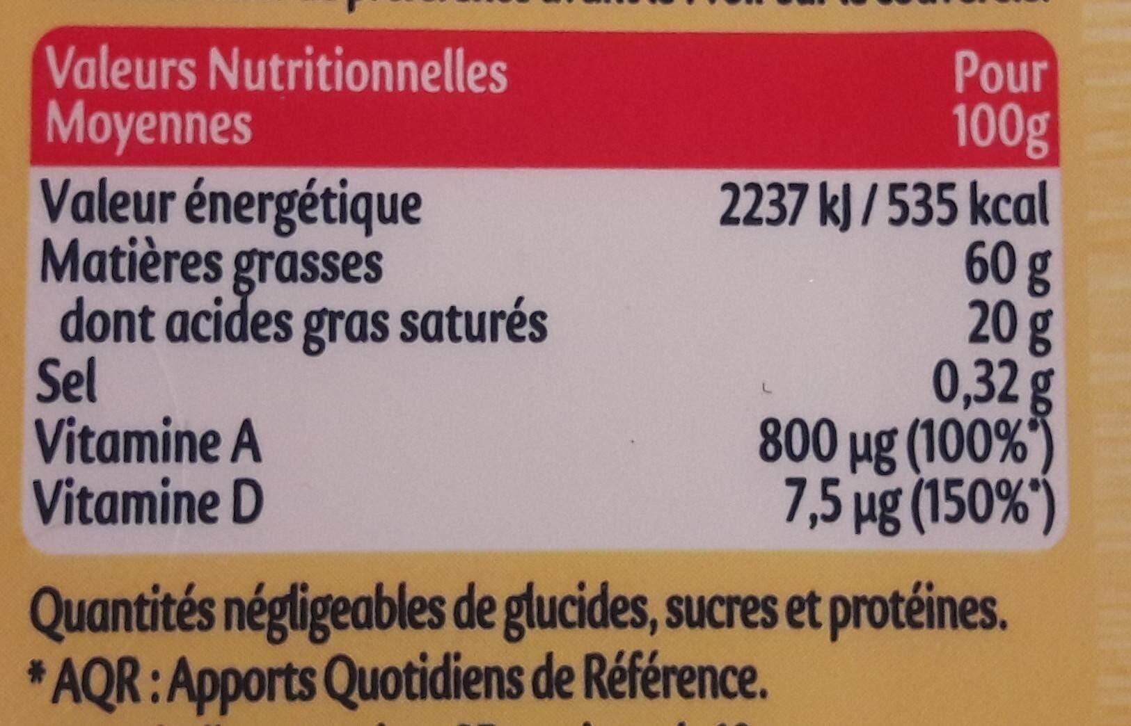 Planta Fin (Doux - margarine) - Informations nutritionnelles - fr