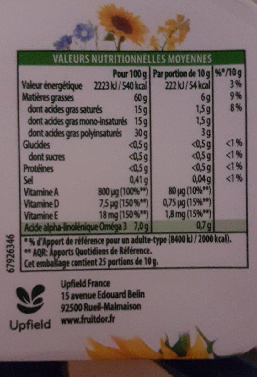 Fruit d'Or 250g - Voedingswaarden - fr
