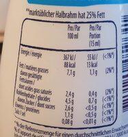 Leichte Koch creme 7% fett - Nutrition facts