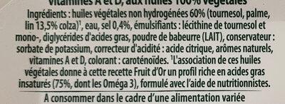 Fruit d'or - Ingrediënten - fr