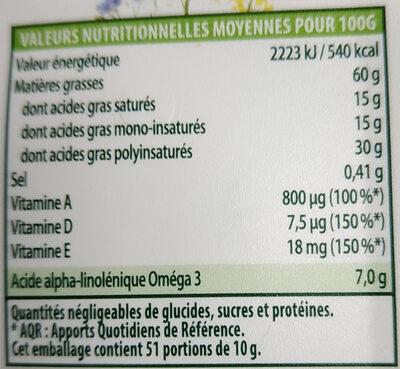 Fruit d'or - Voedingswaarden - fr