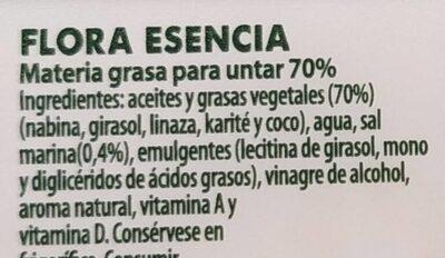 Flora Esencia - Ingredienti - es