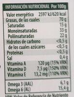 Flora Esencia - Valori nutrizionali - es