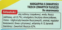 Margaryna o zawartości trzech czwartych tluszczu - Składniki - pl