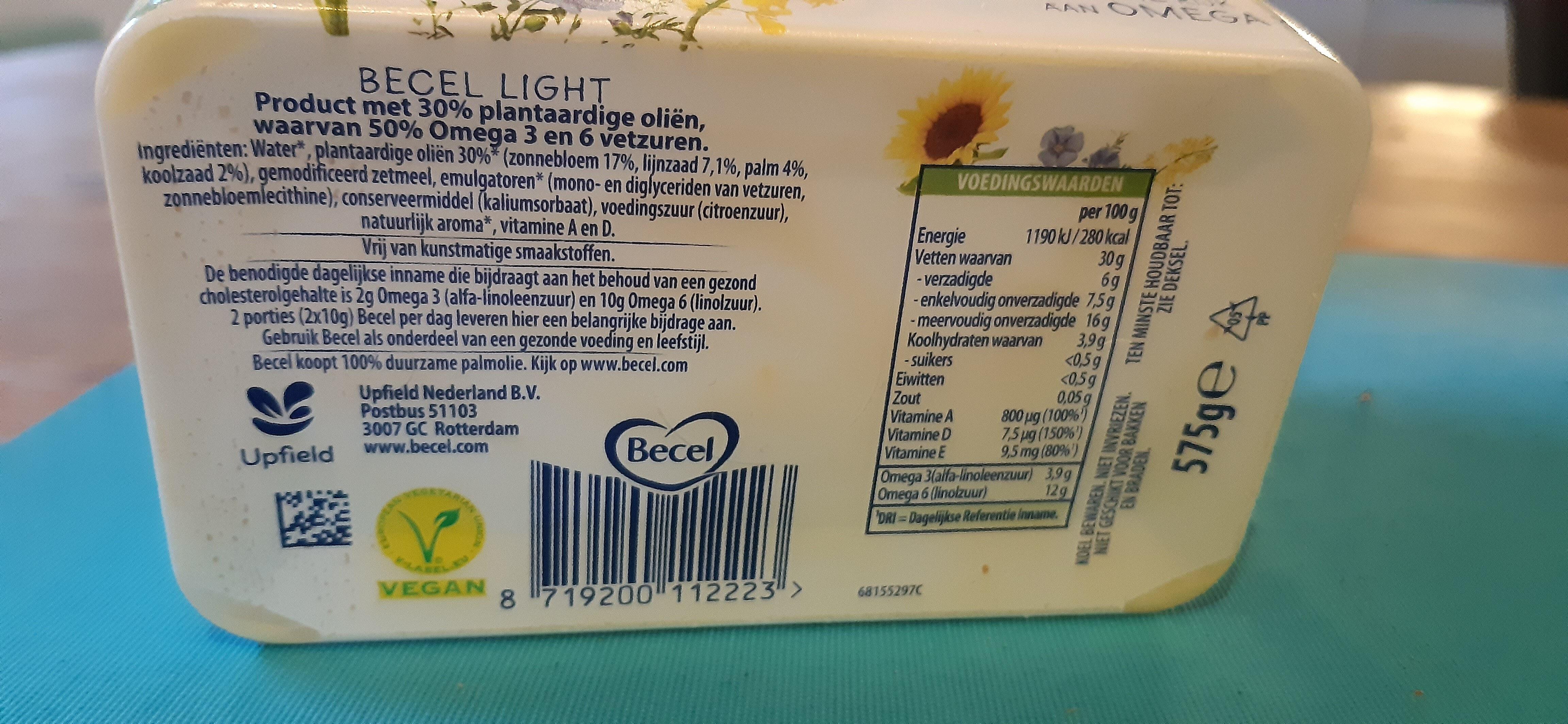 Becel Light - Ingrediënten - nl