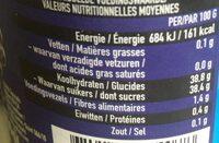 Confiture 4 fruits - Valori nutrizionali - fr