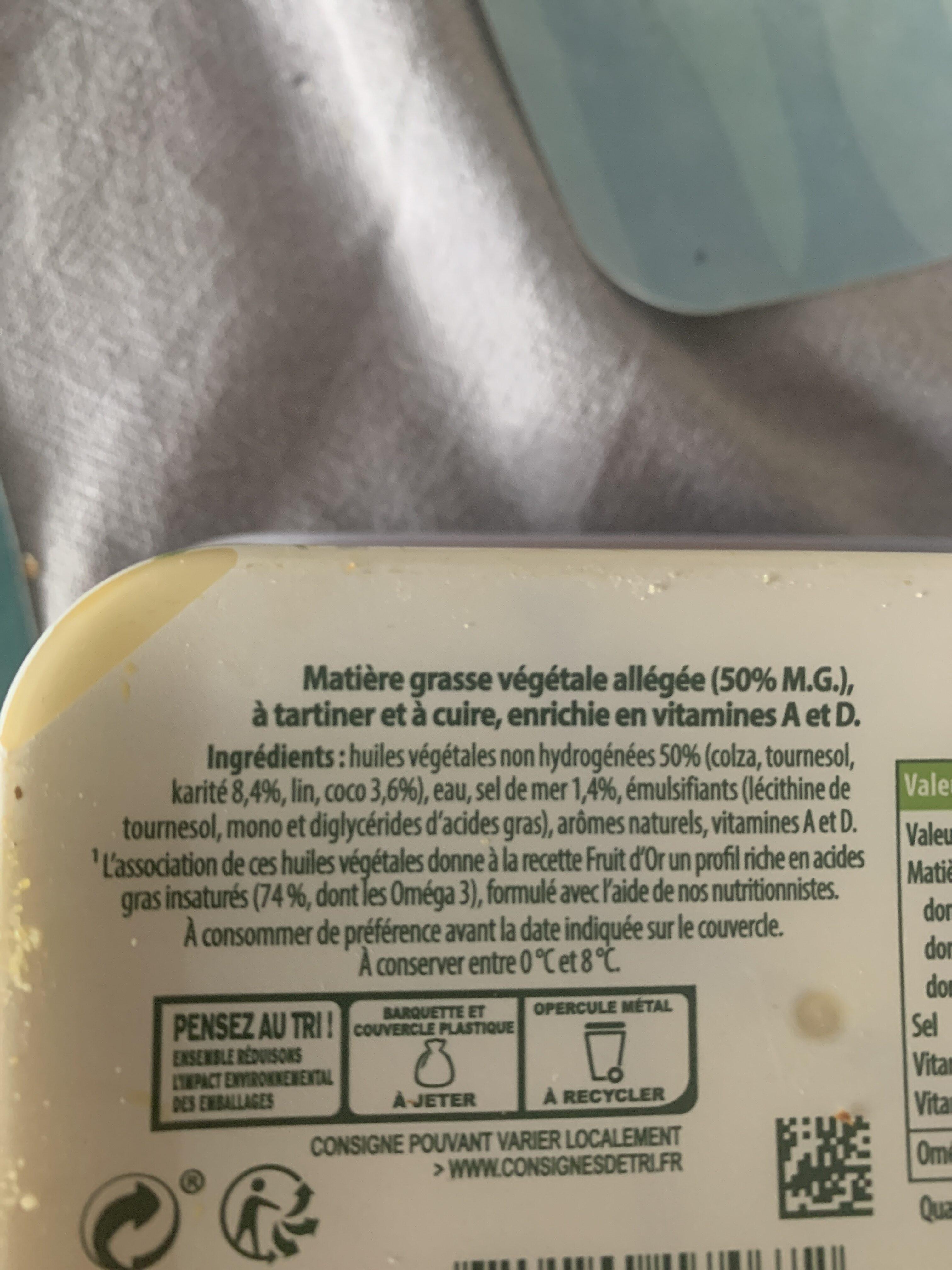 FRUIT D'OR OMEGA 3 - Ingredienti - fr
