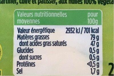 Beurre demi sel - Informations nutritionnelles - fr