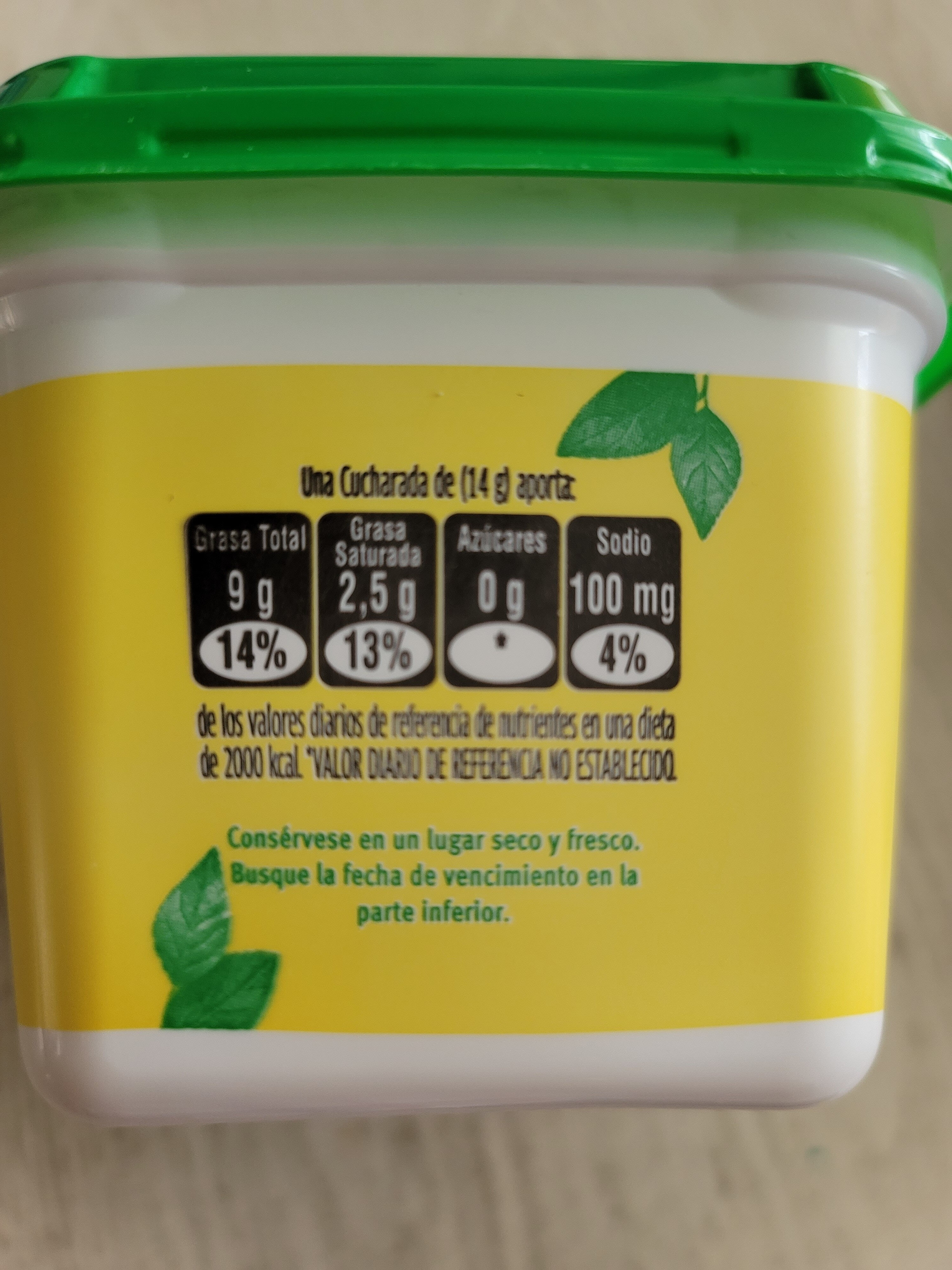 Mantequilla Rama - Informations nutritionnelles - es