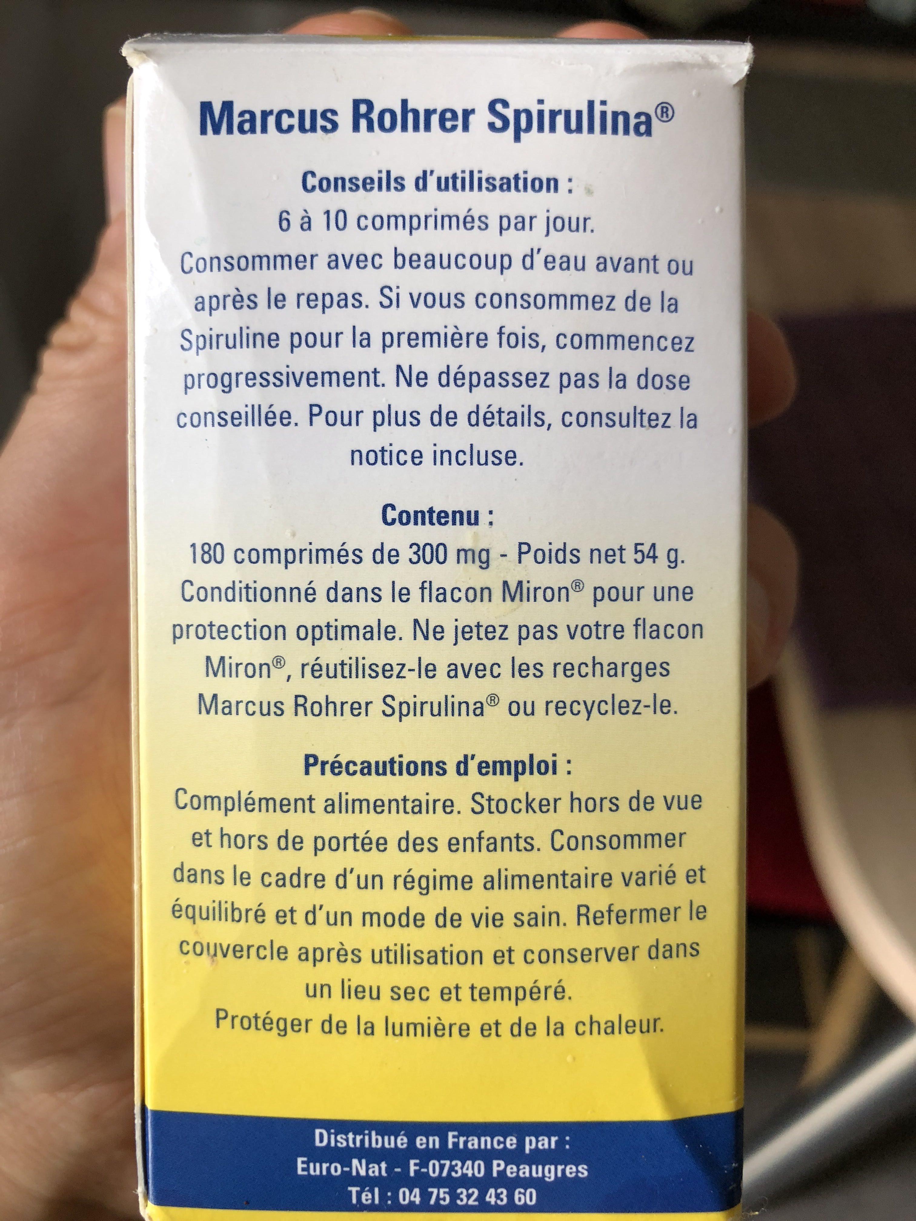 Spiruline 180CP / Cure - Produit
