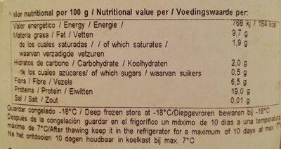 Tempeh - Voedingswaarden