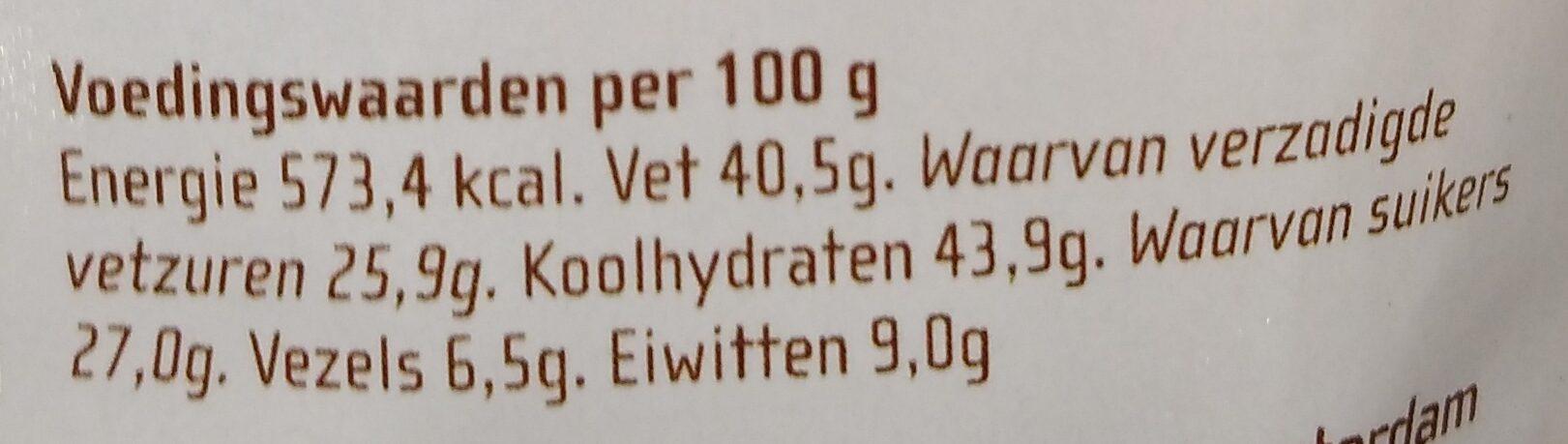 Chocozeiltjes - Nutrition facts - nl