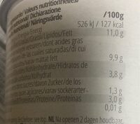 Coco greek style - Nutrition facts - fr