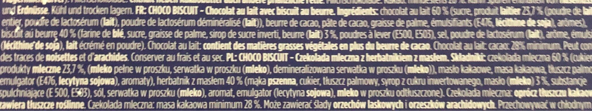 Choco biscuits - Ingredientes - fr