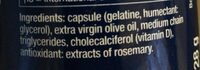 Life Extension Vitamin D3 75 ug - Ingredienti - en