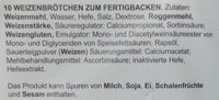 Petit Pain Weiß zum Fertigbacken - Inhaltsstoffe - de