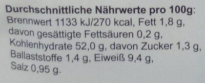 Petit Pain Weiß zum Fertigbacken - Nährwertangaben - de